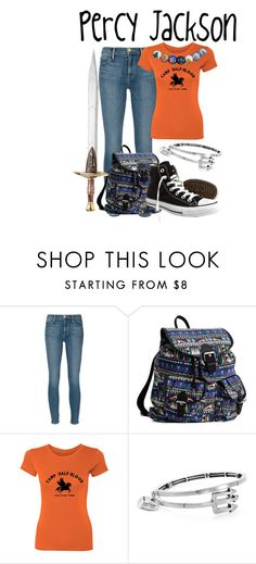 """Percy Jackson"" by aquatic-angel ❤ liked on Polyvore featuring Frame Denim, Converse and Alex and Ani"