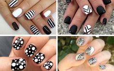 black and white nail art  Trend to Try: Black and White