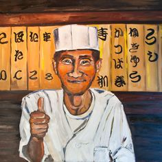 Chef! - oil - 80x80 cms by Vodegel#oil #canvas #art #paintings #buy