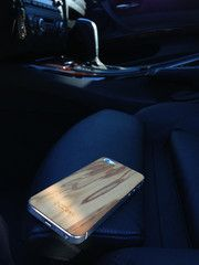 iPhone 5S back cover, hand crafted in Europe of real exotic Olivewood, by OCDesk.com