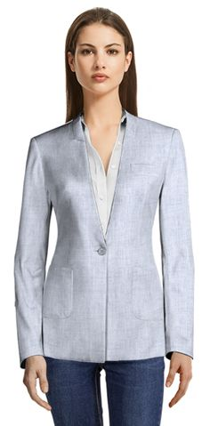 There are many opinions regarding Seersucker suits; some think it's not flattering, which sure, this can be true if you wear the wrong Seersucker suit. We're here to show you how to avoid these problems when wearing the right one. Blazers For Women, Suits For Women, Jackets For Women, Blazer Buttons, International Fashion, Seersucker, Your Style, Shirt Dress, Womens Fashion