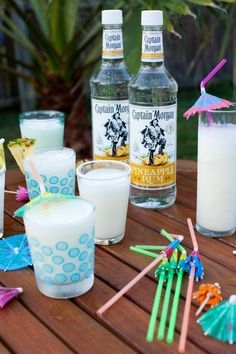 Pina Thunders made with Captain Morgan rum are the perfect recipe for your next backyard party!