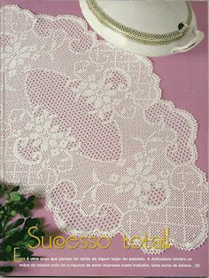 Advertise your interior design company with seo - Crochet Filet Crochet Books, Crochet Home, Thread Crochet, Crochet Stitches, Crochet Table Runner, Crochet Tablecloth, Crochet Doilies, Doily Patterns, Crochet Patterns