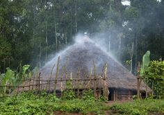 Traditional house called a toukoul - Ethiopia