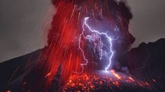 Volcanic lightning. Probably one of the coolest things in nature.