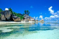 Seychelles Islands just off the coast of East Africa