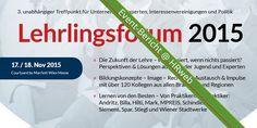 Event-Bericht zum 3. Lehrlingsforum (Wien): Lehrlinge brauchen Wissen. Ausbilder auch.
