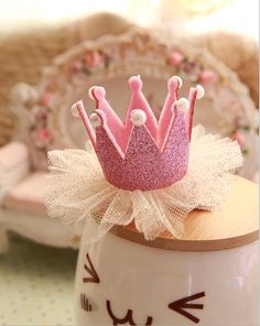Elegant pink crown with jewels for the little princess. Hot sale!! 0.65$