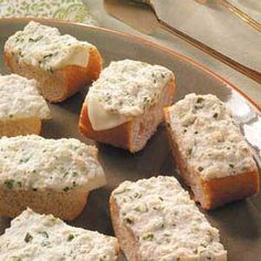 Hot Crab Hero Recipe -These rich sandwich slices make great appetizers, whether you're entertaining at home or taking a special dish to a carry-in dinner. —Beverly Mix, Missoula, Montana