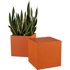 cube orange table-planter   CB2