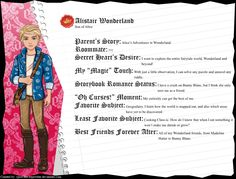 Ever After High - Alistair Wonderland by cjlou-the-bejeweler.deviantart.com on @DeviantArt