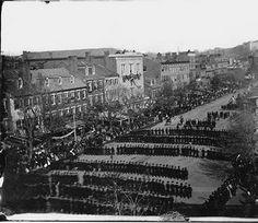 President Lincoln's Funeral Procession on Pennsylvania Avenue (View 1) - Washington, D.C., April 19, 1865