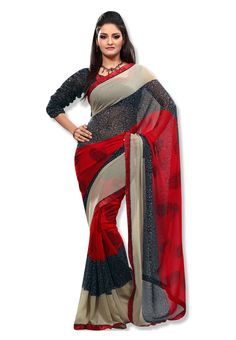 f9d4659f57d Digital  Black  amp  Red Printed  Saree FABDEAL features all the timeless  classics a