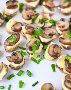 Roasted Potato Bites with Brie and Mushrooms