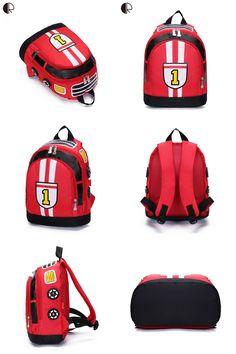 Visit to Buy  New Children School Bags Cartoon Car Backpack Baby Toddler  kids Book 2fb535dea0697