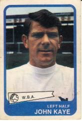 John Kaye (A&BC Gum Cards 1968/69) - #West Bromwich Albion #Quiz #West Brom