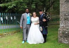 Congratulations to Sarah & Cheranga, who were married at Glanusk Estate yesterday. A beautiful summer's day in stunning grounds, I led the happy couple from their ceremony to the 'Skye Boat Song', before leading all guests to the estate church for their blessing. Wishing you both all the very best for your future together :-) #SouthWales #Weddingmusic #Bagpipes