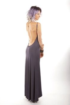 Backless Bamboo Maxi Dress by MEMEKOKO on Etsy, $85.00