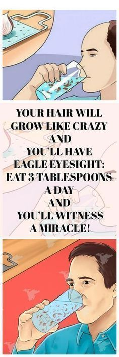 Your Hair Will Grow Like Crazy and You'll Have Eagle Eyesight: Eat 3 Tablespoons A Day And You'll Witness a Miracle! - Your Healthy Tips Health And Beauty, Health And Wellness, Health Fitness, Health Club, Hair Remedies, Health Remedies, Natural Cures, Natural Healing, Natural Hair