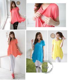Fashion comfy short sleeve irregular hem maternity nursing top breastfeeding top in Clothing, Shoes & Accessories   eBay