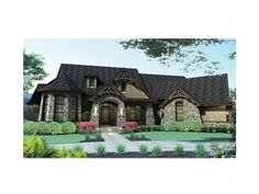 French Country House Plan with 2595 Square Feet and 3 Bedrooms(s) from Dream Home Source | House Plan Code DHSW73226