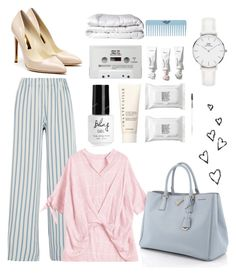 """Untitled #960"" by helenaki65 ❤ liked on Polyvore featuring Paul & Joe, Rupert Sanderson, Prada, Chantecaille, Make, Old Navy, Brinkhaus and Daniel Wellington"