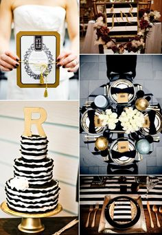 Black and Gold - an absolutely elegant wedding color palette. @Nicole Donovan