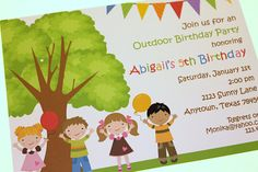 Outdoor Birthday Party Invitations