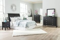 queen sleigh bed headboard and matching dresser and nightstand