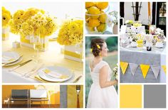 Wedding Colour Palette Inspiration Yellow and Grey