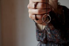 pit fired ceramic pendant on oxidized sterling silver chain by LACCENTNOU