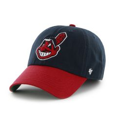quality design d722d aec4d Cleveland Indians 47 Brand Franchise Navy Red Fitted Slouch Hat Cap