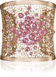Cellini PINK Diamond  Gold Cuff....