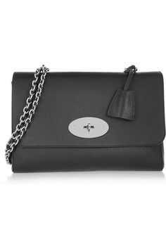 Mulberry | Medium Lily textured-leather shoulder bag | NET-A-PORTER.COM