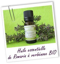 Le romarin est connu comme régénérant et protecteur du foie. Egalement réputée comme cicatrisante et bactéricide, cette huile de Romarin à verbénone BIO s'utilise aussi pour les soins de la peau en cas d'acné, eczéma, vergetures et cicatrices.