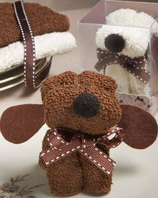 Puppy Dog Towel Favor #wedding #favor www.BlueRainbowDesign.com