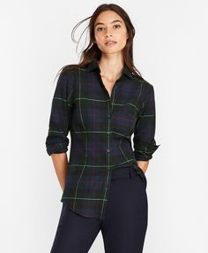 Plaid Cotton Flannel Shirt Brooks Brothers