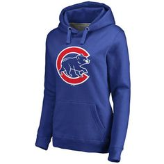 Women's Chicago Cubs Royal Primary Logo Pullover Hoodie