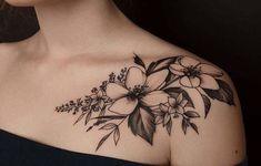 Tropical Flower Tattoos, Jasmine Flower Tattoos, Jasmine Tattoo, Floral Thigh Tattoos, Bone Tattoos, Dad Tattoos, Girl Tattoos, Dope Tattoos For Women, Shoulder Tattoos For Women