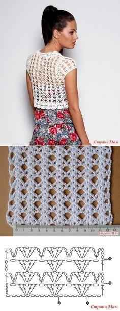 Cropped de croche | top | branco | detalhes | receita