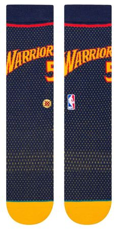 8029a0365442 Baron Davis Golden State Warriors Stance NBA HWC Jersey Crew Socks L Mens  9-12