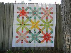 supernova quilt. love it! (via little miss shabby)