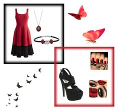 """black and red"" by kriziao ❤ liked on Polyvore featuring Insignia Collection, Red Circle, Disney, women's clothing, women's fashion, women, female, woman, misses and juniors"