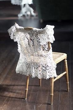 dressing a chair in something a bit too frilly for everyday