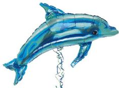 A dolphin balloon is a perfect decoration for a movie party themed around Dolphin Tale.