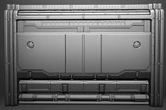 Image result for wall paneling sci fi