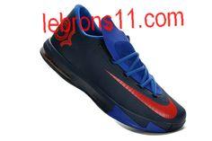 huge selection of 2e471 9eae4 Kevin Durant 6 Black Blue Red Shoes. Nike Kd ViNike ...