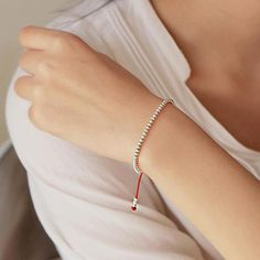 925 Sterling Silver Beads Lucky Red Rope with MONEY Charm – zenheavens Cheap Bracelets, Handmade Bracelets, Bangle Bracelets, Bangles, Silver For Jewelry Making, Sterling Silver Bead Bracelet, Red Rope, Jewelry Tools, Silver Beads