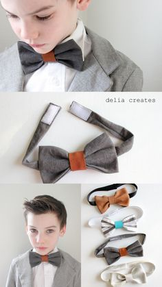 How to Make Leather Bow Ties Make A Bow Tie, Diy Bow, How To Make Bows, Diy Leather Bows, Bow Tie Tutorial, Bowtie Pattern, Tie Crafts, Leather Scraps, Fabric Hair Bows