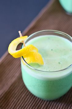 Lime sherbet smoothie!